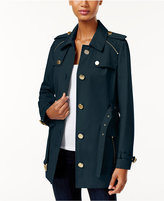 MICHAEL Michael Kors Zipper-Trim Trench Coat