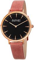August Steiner Women's Genuine Leather Watch