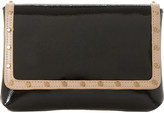 Dune Borriss patent studded clutch bag