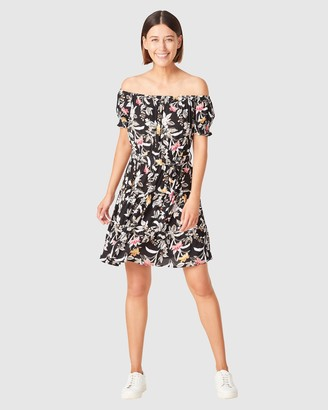 French Connection Women's Dresses - Off Shoulder Botanical Dress - Size One Size, 16 at The Iconic