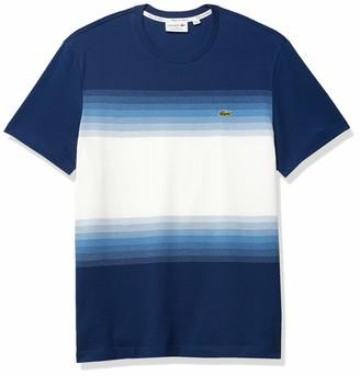 Lacoste Men's Short Sleeve Ombre Regular Fit T-Shirt