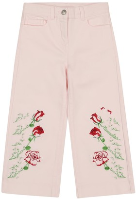 MonnaLisa Embroidered straight jeans