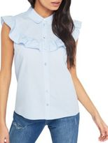 Miss Selfridge Sleeveless Ruffled Shirt