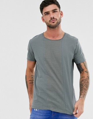 Jack and Jones cut and sew t-shirt in green