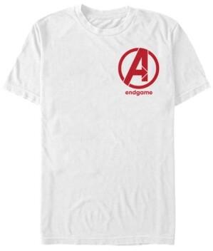 Marvel Men's Avengers Endgame Left Chest Logo, Short Sleeve T-shirt