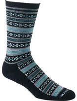 Mephisto Women's Bellevue Crew Sock - Black Striped Socks