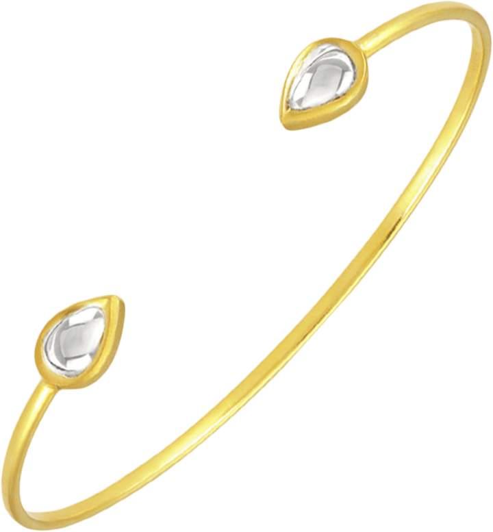 Amrapali Legend Kundan Vintage Diamond Teardrop Cuff Bracelet