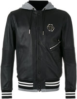 Philipp Plein East bomber jacket - men - Cotton/Sheep Skin/Shearling/Polyester/Viscose - M