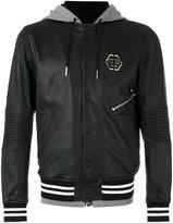 Philipp Plein East bomber jacket - men - Sheep Skin/Shearling/Cotton/Viscose/Polyester - L