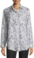 Lafayette 148 New York Babette Long-Sleeve Floral-Print Blouse