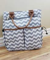 White & Gray Chevron Diaper Bag
