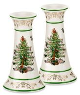 Spode Christmas Tree Gold Candlesticks (Set of 2)