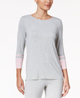 Nautica Contrast-Cuffed Pajama Top