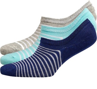 Fruit Cake Fruitcake Womens Invisible Trainer Liners Multi/Blue Mint Grey