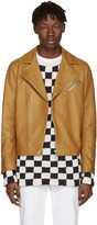 Acne Studios Brown Leather Axl Jacket