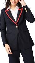 Court & Rowe Contrast Collar Linen Blend Blazer