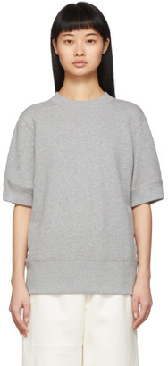 Sacai Grey Chiffon Detail Sweatshirt