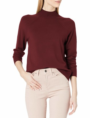 Daily Ritual Amazon Brand Women's Fine Gauge Stretch Ribbed Mockneck Sweater