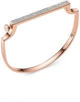 Monica Vinader Women's Signature Diamond Thin Petite Bangle