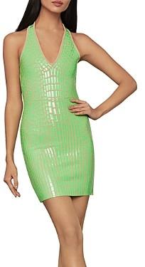 BCBGMAXAZRIA Textured Bodycon Dress