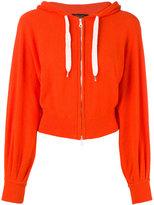 Roberto Collina cropped zip front hoodie