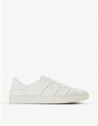 Bertie Electric perforated-detail leather trainers
