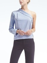 Banana Republic Rouched One-Shoulder Top