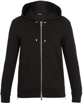 Balmain Tiger-print hooded cotton sweatshirt