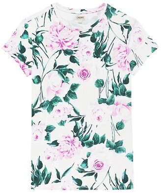 L'Agence Ressi Short Sleeve Crewneck T-Shirt