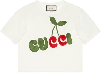 Gucci cherry print cotton T-shirt