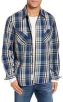 Schott NYC Men's Classic Fit Plaid Flannel Shirt