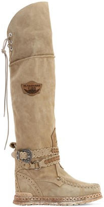 EL VAQUERO 70MM HUNTRESS SUEDE OVER-THE-KNEE BOOTS