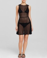 DKNY Low Back Swim Cover Up Dress