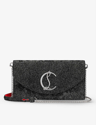 Christian Louboutin Loubi54 leather clutch bag