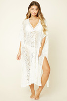 Forever 21 FOREVER 21+ Floral Lace Swim Cover-Up