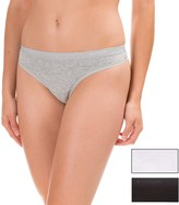 Columbia Cotton Stretch Panties - 3-Pack, Thong (For Women)