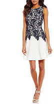 Alex Marie Locke Lace Fit-and-Flare Dress