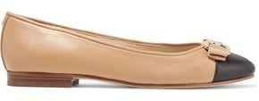 Sam Edelman Mage Embellished Two-tone Leather Ballet Flats