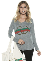Lauren Moshi Gracie Long Sleeve Scoop Neck Raglan in Heather