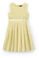Classic Girls Eyelet Dress-White Heart Eyelet