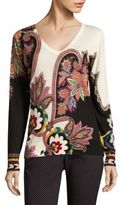 Etro Silk & Cashmere Paisley Pullover