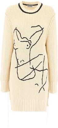 Jil Sander Oversized Embroidered Jumper