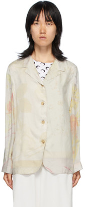 Marine Serre Multicolor Silk Regenerated Lounge Shirt