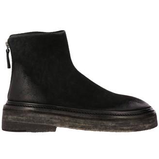 Marsèll Heeled Booties Zip Parruccona Ankle Boots In Suede With Macro Zip