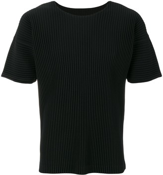 Homme Plissé Issey Miyake ribbed effect T-shirt