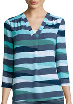 A.N.A a.n.a 3/4-Sleeve V-Neck Woven Blouse