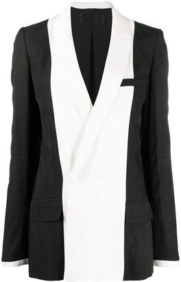 Haider Ackermann Black And White Double-breasted Blazer