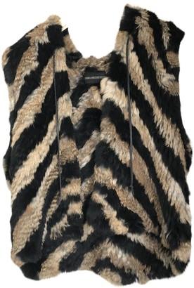 Zadig & Voltaire Beige Rabbit Coat for Women