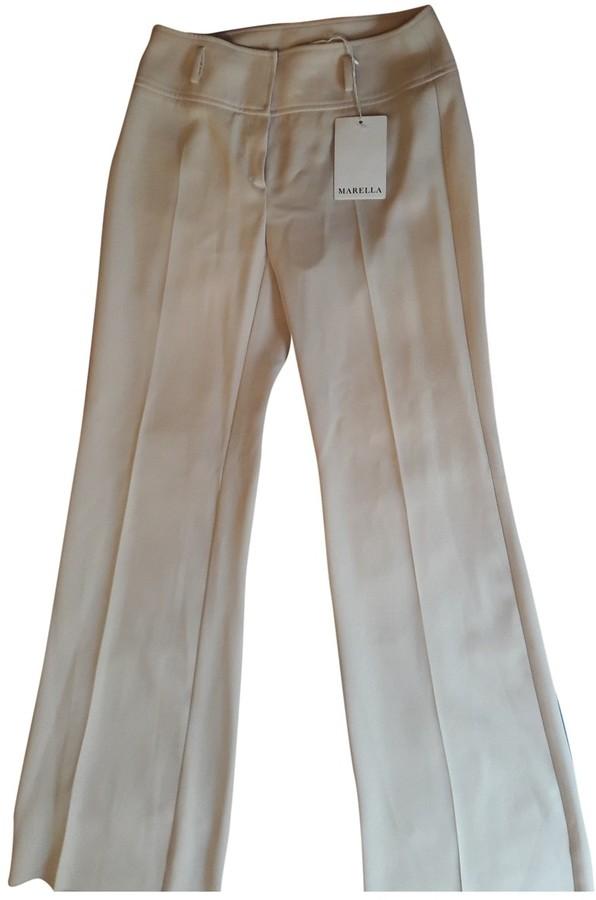 Marella White Trousers for Women