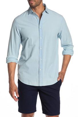 Thomas Dean Wash Woven Denim Long Sleeve Shirt